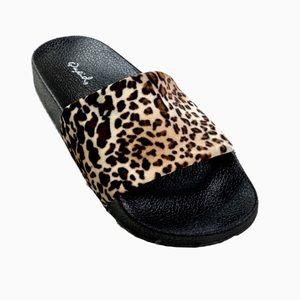Leopard Print Velvet Lounge Slipper